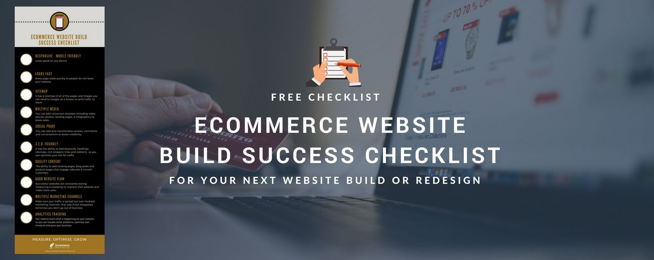 FREE ECOMMERCE WEBSITE BUILD CHECKLIST